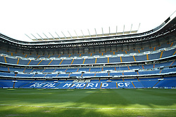 MADRID, SPAIN - Monday, April 7, 2003: The Santiago Bernabeau stadium before the Champions League Quarter Final 1st Leg match between Real Madrid and Manchester United in Spain. Monday, March 7th, 2003...Pic by David Rawcliffe/Propaganda..Any problems call David Rawcliffe +44(0)7973 14 2020 david@propaganda-photo.com http://www.propaganda-photo.com (Pic by David Rawcliffe/Propaganda)