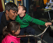 "Students from Neff Early Learning Center enjoy a holiday ""Touch, Smell and Hear"" program at the John P. McGovern Museum of Health & Medical Science, December 9, 2013."