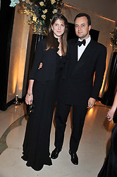 PRINCESS FLORENCE VON PREUSSEN and the MARQUESS OF BRISTOL at a dinner and dance hosted by Leon Max for the charity Too Many Women in support of Breakthrough Breast Cancer held at Claridges, Brook Street, London on 1st December 2011.