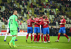 November 15, 2018 - Gdansk, Pomorze, Poland - Lukasz Skorupski (12) and Czech Republic national football team  during the international friendly soccer match between Poland and Czech Republic at Energa Stadium in Gdansk, Poland on 15 November 2018  (Credit Image: © Mateusz Wlodarczyk/NurPhoto via ZUMA Press)