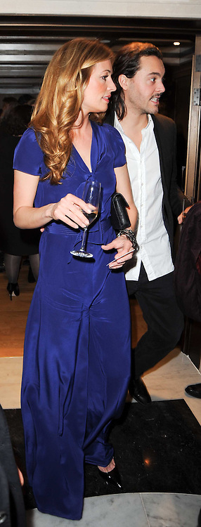 CAT DEELEY and JACK HUSTON at a dinner hosted by jewellers Damiani at The Connaught Hotel, London on 3rd February 2010.
