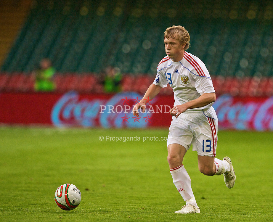 CARDIFF, WALES - Wednesday, September 9, 2009: Russia's Renat Yanbaev in action against Wales during the FIFA World Cup Qualifying Group 3 match at the Millennium Stadium. (Photo by Dave Kendall/Propaganda)