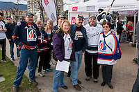 KELOWNA, CANADA - MARCH 25: Kamloops Blazers' fans attend the first game of round 1 playoffs against the Kelowna Rockets on March 25, 2016 at Prospera Place in Kelowna, British Columbia, Canada.  (Photo by Marissa Baecker/Shoot the Breeze)  *** Local Caption *** Fans;