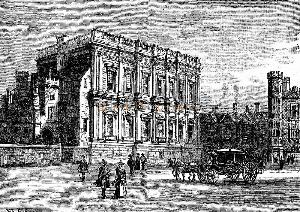 Banqueting house, London, Circa 1640-70 From an engraving