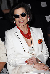 Bianca Jagger at the Carolina Herrera show  at  New York Fashion Week, Monday, 10th  September 2012. Photo by: Stephen Lock / i-Images