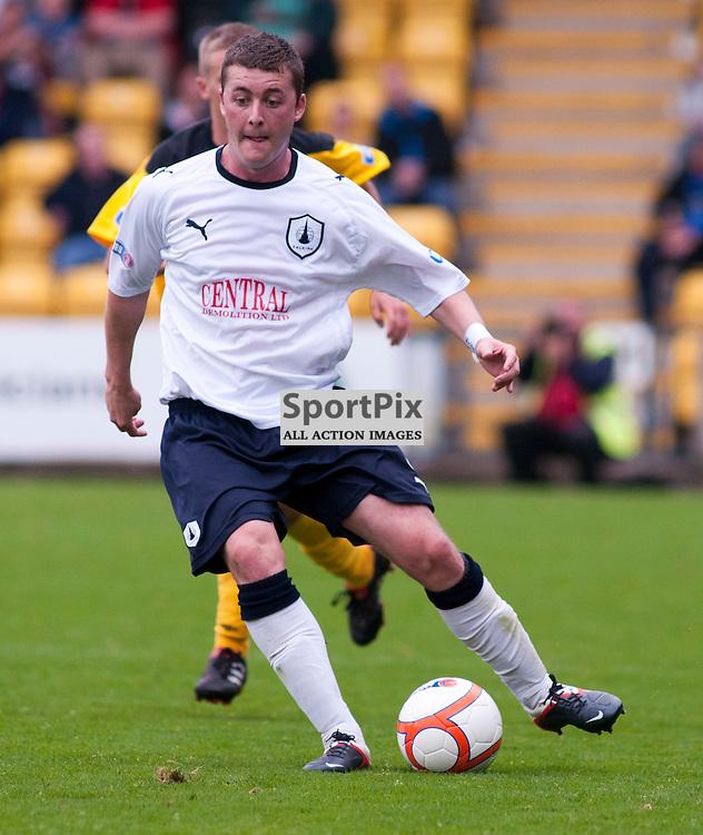 Falkirk's Thomas Scobbie on the attack, Livingston v Falkirk, SFL Division 1