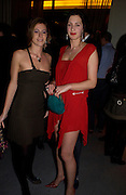 Francesca Versace and the hon Flora Astor, W'Sens-restaurant launch party. 12 Waterloo Place. 10 December 2004. ONE TIME USE ONLY - DO NOT ARCHIVE  © Copyright Photograph by Dafydd Jones 66 Stockwell Park Rd. London SW9 0DA Tel 020 7733 0108 www.dafjones.com