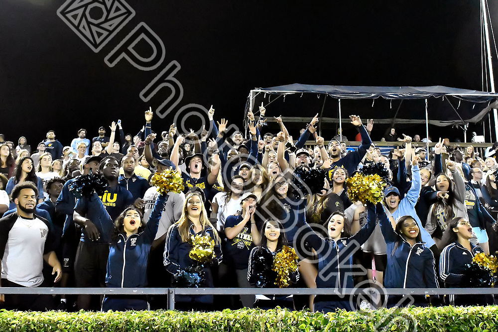 2017 November 16 - FIU's fans watching the game. <br /> Florida International University defeated Omaha, 2-0, at the FIU Soccer Complex, Miami, Florida. (Photo by: Alex J. Hernandez / photobokeh.com) This image is copyright by PhotoBokeh.com and may not be reproduced or retransmitted without express written consent of PhotoBokeh.com. &copy;2017 PhotoBokeh.com - All Rights Reserved