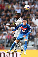 Blaise Matuidi-Jose' Maria Callejon<br /> Torino 29-09-2018 Allianz Stadium Football Calcio Serie A 2018/2019 Juventus - Napoli <br /> Foto Matteo Gribaudi / Image Sport  / Insidefoto