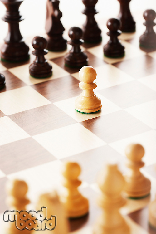 Chess board after first move