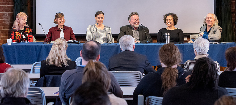 Photo by Mara Lavitt<br /> March 8, 2019<br /> Kroon Hall, Yale University, Prospect St. New Haven<br /> <br /> The 2019 Northeast Summit for a Sustainable Built Environment.
