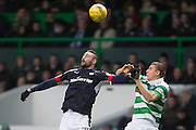 Dundee's Marcus Haber and Celtic's Jozo Simunovic - Celtic v Dundee in the Ladbrokes Scottish Premiership at Celtic Park, Glasgow. Photo: David Young<br /> <br />  - © David Young - www.davidyoungphoto.co.uk - email: davidyoungphoto@gmail.com