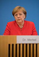 DEU, Deutschland, Germany, Berlin, 20.07.2018: Sommerpressekonferenz von Bundeskanzlerin Dr. Angela Merkel (CDU) in der Bundespressekonferenz zu aktuellen Themen der Innen- und Aussenpolitik.