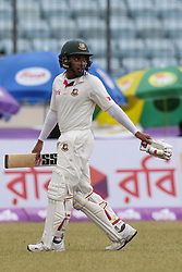 August 29, 2017 - Mirpur, Dhaka, Bangladesh - Bangladeshi captain Mushfiqur Rahim  leaving the ground after the dismassal  during the third day of the first Test cricket match between Bangladesh and Australia at the Sher-e-Bangla National Cricket Stadium in Dhaka on August 29, 2017. (Credit Image: © Ahmed Salahuddin/NurPhoto via ZUMA Press)