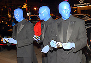 PHILADELPHIA - JANUARY 26: Members of Blue Man Group arrive for the 151st Anniversary of the Academy of Music January 26, 2008 in Philadelphia, Pennsylvania. The Philadelphia Orchestra debuted one of Billy Joel's original compositions and Joel performed for the first time with a major orchestra. (Photo by William Thomas Cain/Getty Images)