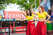 Bollywood dancers entertain the spectators ahead of the second day of the 4th SpecSavers International Test Match 2018 match between England and India at the Ageas Bowl, Southampton, United Kingdom on 31 August 2018.