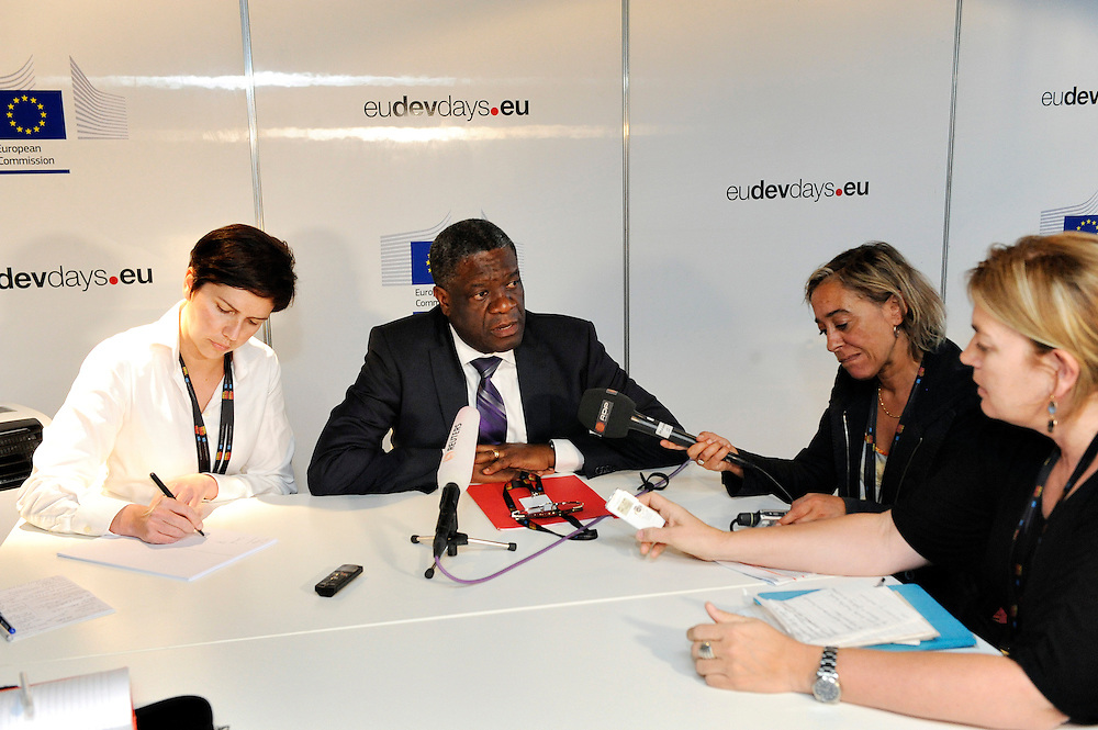 20150603- Brussels - Belgium - 04 June2015 - European Development Days - EDD  - Bilateral Meeting  Dr Denis Mukwege press conference  © EU/UE