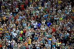 Fans at the 2009 IAAF Athletics World Championships on August 16, 2009 in Berlin, Germany. (Photo by Vid Ponikvar / Sportida)