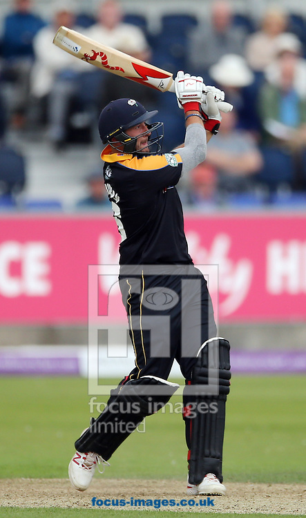Tim Bresnan of Yorkshire Vikings batting during the Royal London One Day Cup match at Emirates Riverside, Chester-le-Street<br /> Picture by Simon Moore/Focus Images Ltd 07807 671782<br /> 31/07/2016