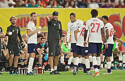 NEW YORK, NEW YORK, USA - Wednesday, July 24, 2019: Liverpool's manager Jürgen Klopp reacts during a friendly match between Liverpool FC and Sporting Clube de Portugal at the Yankee Stadium on day nine of the club's pre-season tour of America. (Pic by David Rawcliffe/Propaganda)