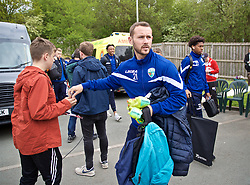 RHOSYMEDRE, WALES - Sunday, May 5, 2019: The New Saints FC's Kurtis Byrne arrives before the FAW JD Welsh Cup Final at The Rock. (Pic by David Rawcliffe/Propaganda)
