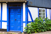Quaint cottage home in Troense, Tasinge Island off Svendborg, of South Funen Archipelago, Denmark