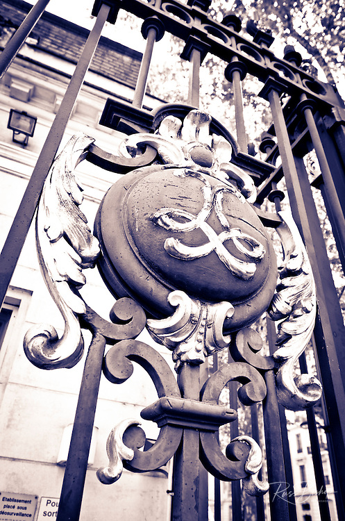 Gate at Parc de la Tete d'Or, Lyon, France (UNESCO World Heritage Site)