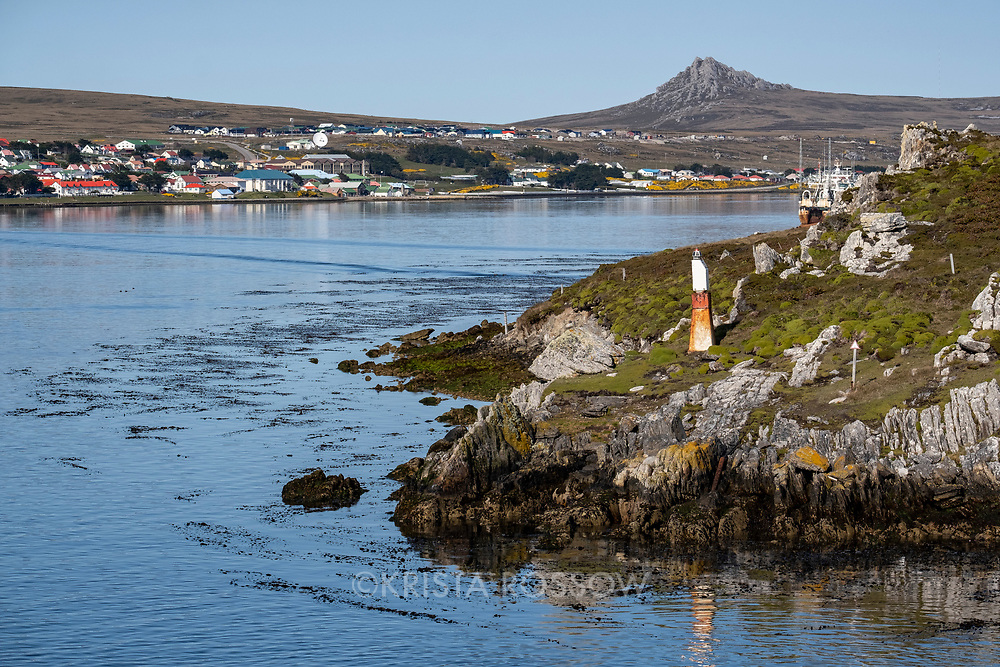 The harbor at Stanley, East Falkland Island, Falkland Islands.