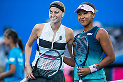 January 26, 2019 - Melbourne, VIC, U.S. - MELBOURNE, VIC - JANUARY 26: PETRA KVITOVA (CZE) and NAOMI OSAKA (JPN) during day thirteen match of the 2019 Australian Open on January 26, 2019 at Melbourne Park Tennis Centre Melbourne, Australia (Photo by Chaz Niell/Icon Sportswire (Credit Image: © Chaz Niell/Icon SMI via ZUMA Press)