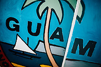 A painted mural sign in Guam.