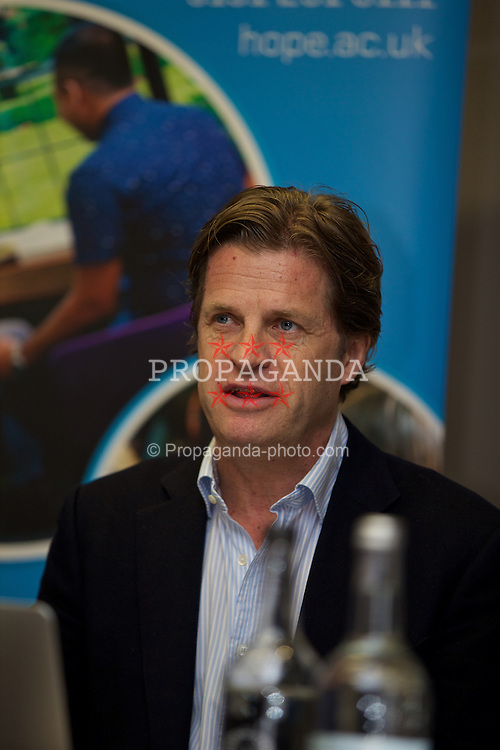 LIVERPOOL, ENGLAND - Monday, April 18, 2016: Anders Borg during the launch of the 2016 Liverpool Hope University International Tennis Tournament at the Hilton Hotel. (Pic by David Rawcliffe/Propaganda)
