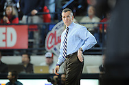 "Ole Miss vs. Florida coach Bill Donovan at the C.M. ""Tad"" Smith Coliseum in Oxford, Miss. on Saturday, February 22, 2014. Florida won 75-71.  (AP Photo/Oxford Eagle, Bruce Newman)"