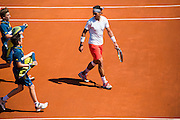 Paris, France. Roland Garros. June 7th 2013.<br /> Spanish player Rafael NADAL against Novak DJOKOVIC