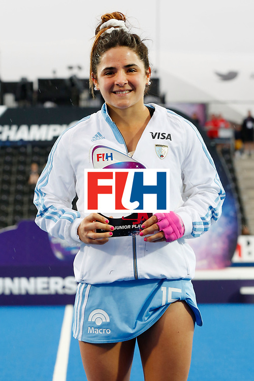 LONDON, ENGLAND - JUNE 26:  Maria Granatto of Argentina, junior player of the tournament at the FIH Women's Hockey Champions Trophy 2016 at Queen Elizabeth Olympic Park on June 26, 2016 in London, England.  (Photo by Joel Ford/Getty Images)