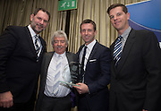 Dundee FC directors John Nelms and Tim Keyes with Neil McCann, and his dad Eddie, as the former Dens winger is inducted into Dundee FC Hall of Fame 2016 - at the Invercarse Hotel<br /> <br />  - &copy; David Young - www.davidyoungphoto.co.uk - email: davidyoungphoto@gmail.com