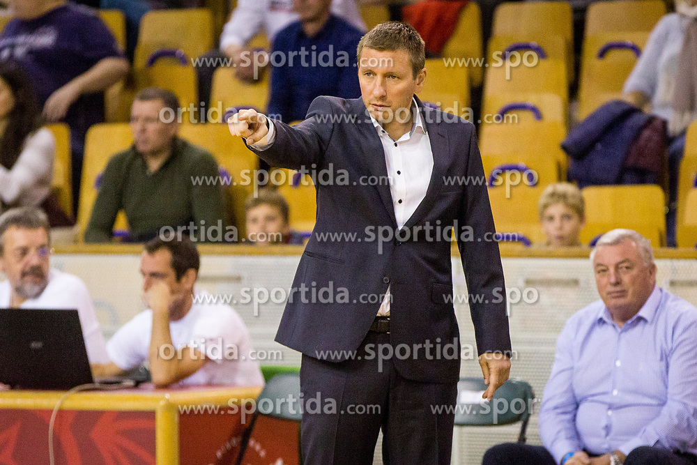 Simon Petrov, head coach of KK Krka during basketball match between KK Ilirija and KK Krka in Round #5 of Liga Nova KBM 2017/18, on November 4, 2017 in Hala Tivoli, Ljubljana, Slovenia. Photo by Ziga Zupan / Sportida