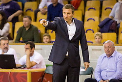 Simon Petrov, head coach of KK Krka during basketball match between KK Ilirija and KK Krka in Round #5 of Liga Nova KBM 2017/18, on November 4, 2017 in Hala Tivoli, Ljubljana, Slovenia. Photo by Ziga Zupan / Sportida