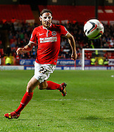 Lawrie Wilson of Charlton Athletic during the Sky Bet Championship match at The Valley, London<br /> Picture by David Horn/Focus Images Ltd +44 7545 970036<br /> 15/04/2014