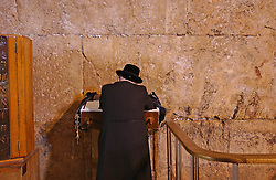 JERUSALEM, ISRAEL - FEB-28-2005 - The faithful pray at the Western Wall in the Jerusalem's Old City. (PHOTO © JOCK FISTICK)