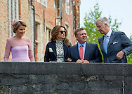 Brugge, 19-05-2016 <br /> <br /> State Visit of King Abdullah and Queen Rania of Jordan to Belgium.<br /> <br /> Visiting school and chocolate shop<br /> <br /> Photo: Royalportraits Europe/Bernard Ruebsamen