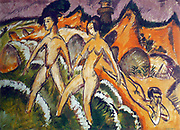 Ernst Ludwig Kirchner (6 May 1880 – 15 June 1938),  German expressionist painter   Personnes entrant dans la mer