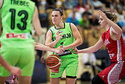 Teja Oblak of Slovenia during friendly basketball match between Women National teams of Slovenia and Croatia before FIBA Eurobasket Women 2017 in Prague, on June 1, 2017 in Celje, Slovenia. Photo by Vid Ponikvar / Sportida