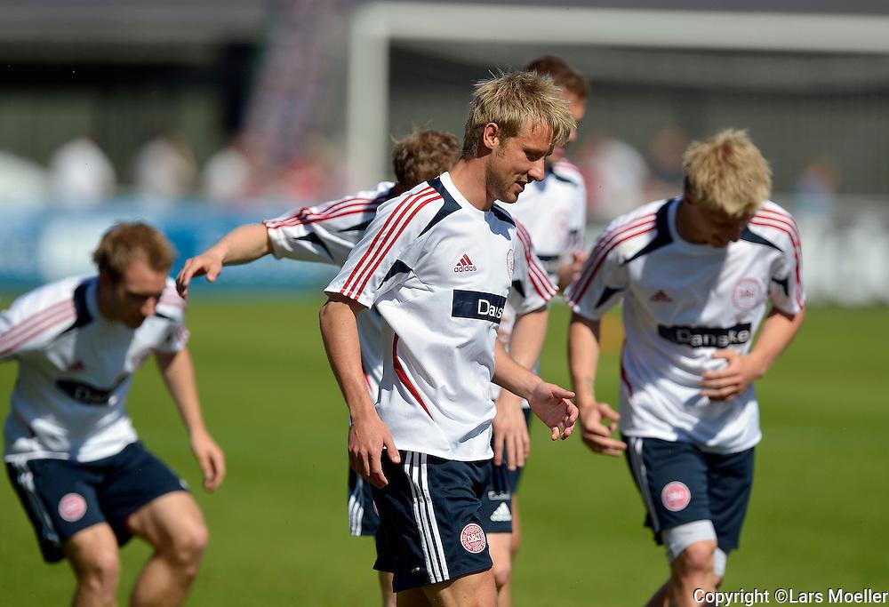 Helsingør, Denmark, 20120528:.Football National team training: Player Tobias Mikkelsen..Photo: Lars Moeller