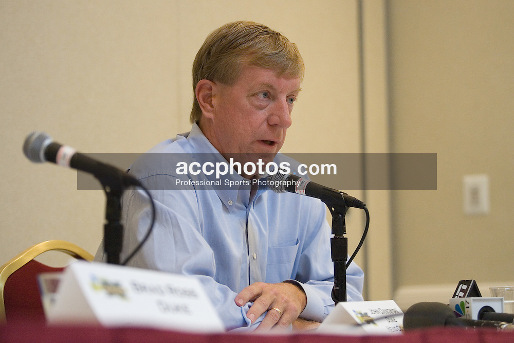 27 May 2007: Duke Blue Devils head coach John Danowski in a press conference, a day before the NCAA lacrosse championship, at the Baltimore Marriott Waterfront in Baltimore, MD.