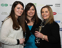 13/11/2015 Repro free  Adele McAteer, Dough Uisce, Geraldine Naughton Ballinfoyle and Joanne Murphy Rahoon at Galway Glamour  by Galway Shopping Centre at the g Hotel hosted by Sile Seoige  <br /> Photo:Andrew Downes, xposure.
