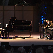 Marc-André Hamelin and Steven Schick perform John Luther Adams' Red Arc/Blue Veil at the 66th Ojai Music Festival on June 7, 2012 in Ojai, California.