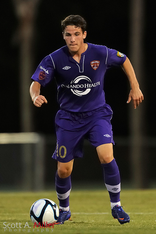Orlando City's John Rooney (10) in action during the Lions game against the Kansas City Athletics in their US Open Cup game at the Seminole Soccer Complex on May 22, 2012 in Sanford, Fla. ..©2012 Scott A. Miller.