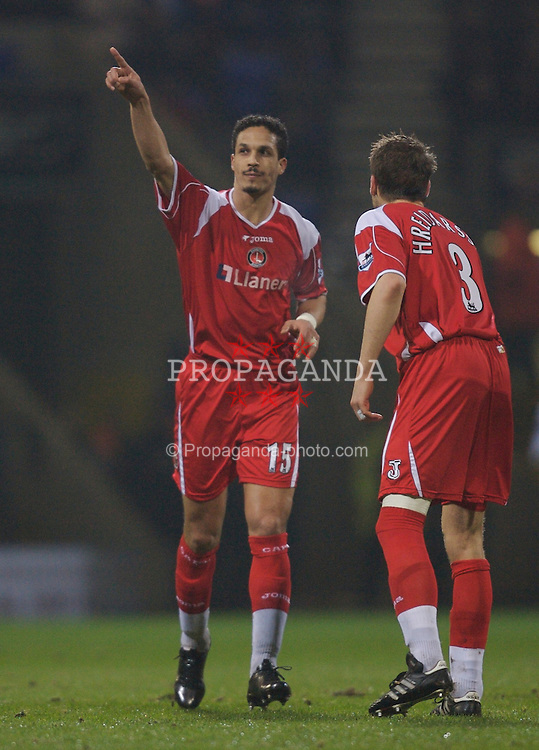 Bolton, England - Wednesday, January 31, 2007: Charlton Athletic's Talal El Karkouri celebrates scoring the equalizer against Bolton Wanderers during the Premiership match at the Reebok Stadium. (Pic by David Rawcliffe/Propaganda)