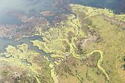 Aerial, wetland pattern