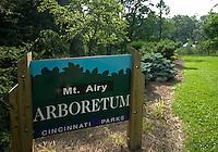 Mt Airy Arboretum Sign